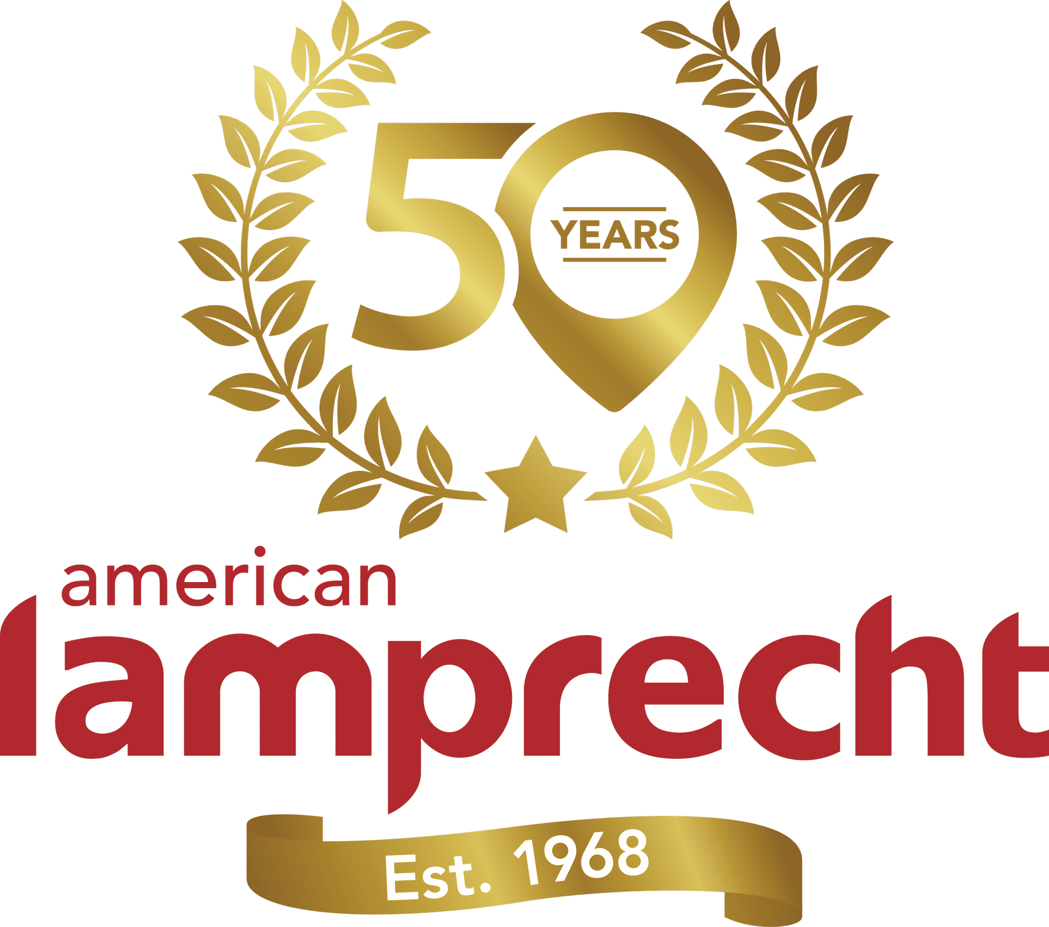 50 Years American Lamprecht logo